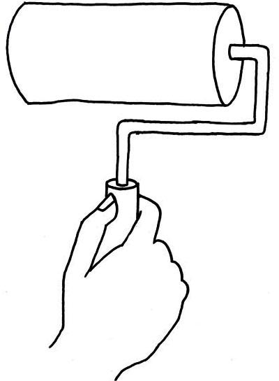 rouleau pour appliquer la colle