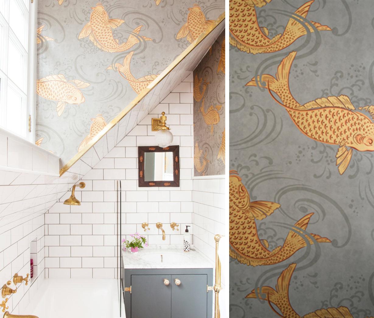 Papier Salle De Bain salle de bain papier peint - océan - analiadeco