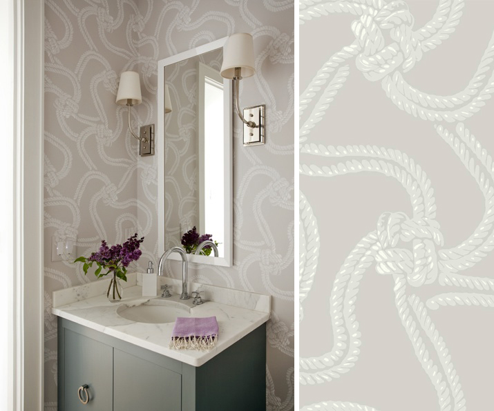 Salle de bain papier peint oc an analiadeco - Papier peint salle de bain design ...